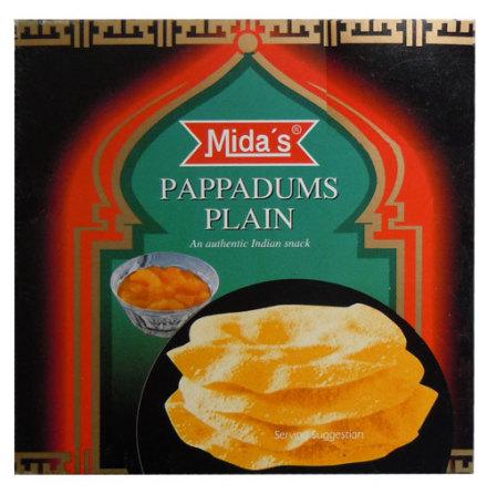 Pappadums Plain 110g Mida's