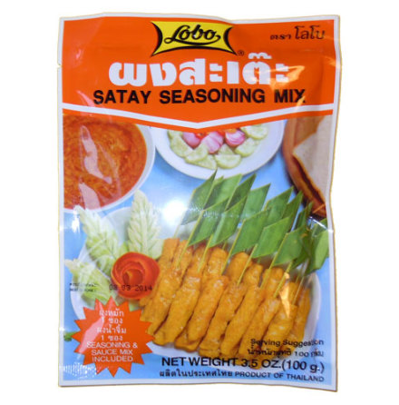Satay Sauce & Seasoning Mix 100 g Lobo