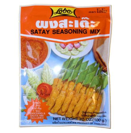 Satay Sauce & Seasoning Mix 100 g Lobo