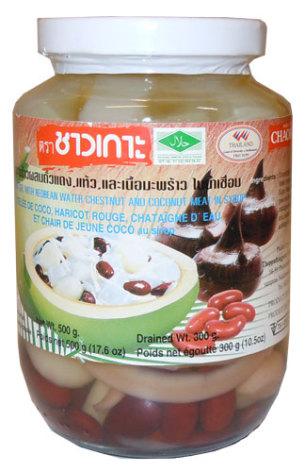 Coconut Gel w/Red Bean 500g Chaokoh