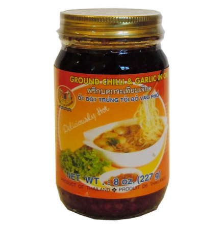 Ground Chili & Garlic in Oil 227g Seahorse