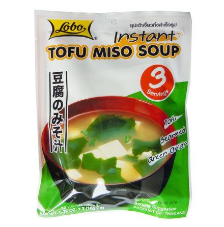 Instant Tofu Miso Soup 30g Lobo
