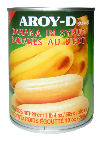Banana in Syrup 565g Aroy-D