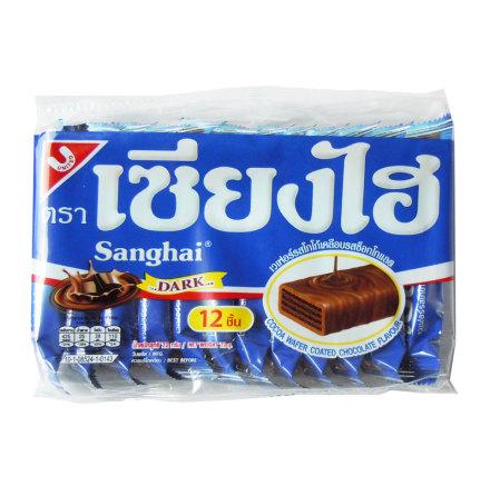 Sanghai Wafers Dark Chocolate 72g