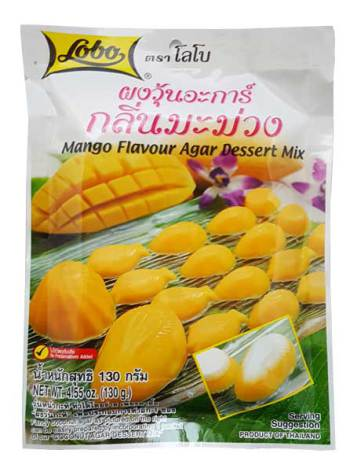 Mango Flavour Agar Dessert Mix 130g Lobo