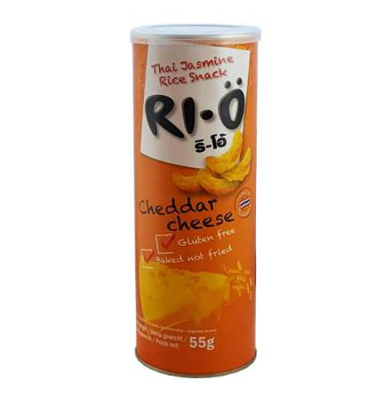RI-Ö Thai Jasmine Rice Snack Cheddar Cheese 55g