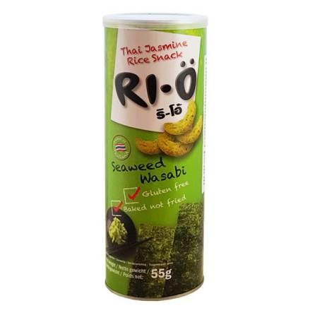RI-Ö Thai Jasmine Rice Snack Seaweed Wasabi 55g