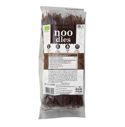 Organic Black Rice Noodles 200g Asia-Tica