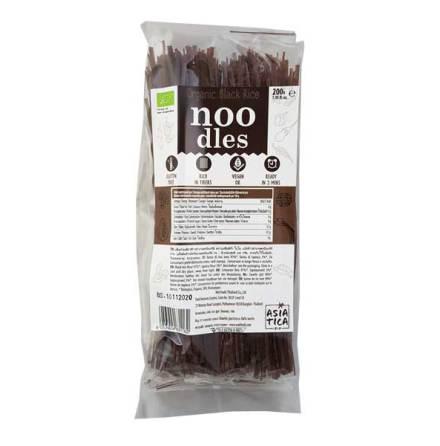 Organic Black Rice Noodles 200g Asia-Tica