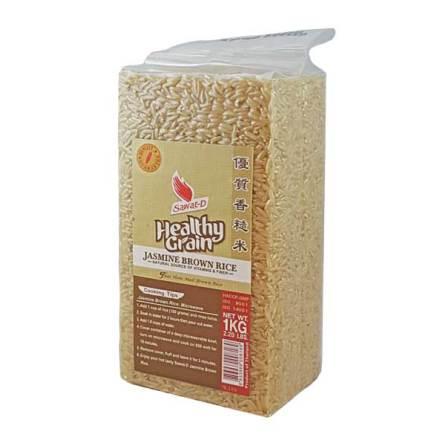 Jasmine Brown Rice 1kg Sawat-D