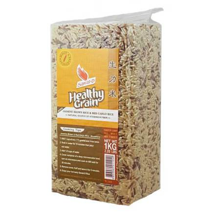 Brown & Red Cargo Rice 1 kg Sawat-D
