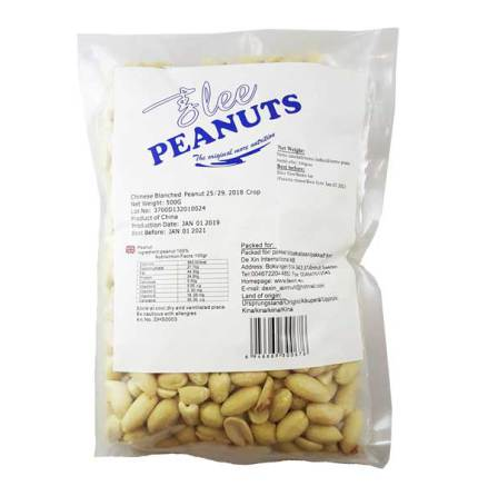 Peanut Blanched Peeled 500 g Lee